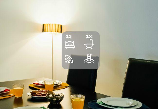 Alojamiento vacaciones comedor comidas espacio interior decoración SCH